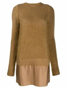 Nº21 panelled knitted dress - Brown