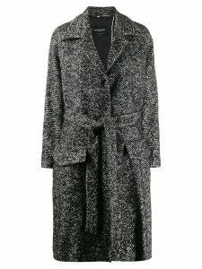 Rochas belted midi coat - Black