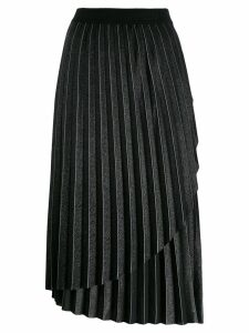 Karl Lagerfeld metallic pleated skirt - Grey