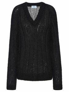 Prada open knit jumper - Black