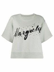 Mm6 Maison Margiela graphic logo print T-shirt - Blue