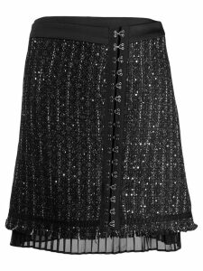 Karl Lagerfeld sparkle boucle skirt - Black