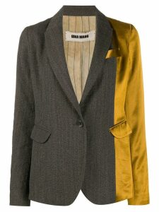 Uma Wang two-tone blazer - Brown