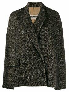 Uma Wang houndstooth print blazer - Black