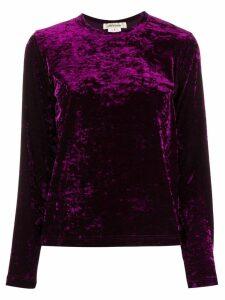 Comme Des Garçons longsleeved velvet jumper - Purple