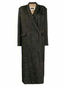 Uma Wang tie-waist coat - Black