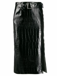 Pinko varnished fitted skirt - Black