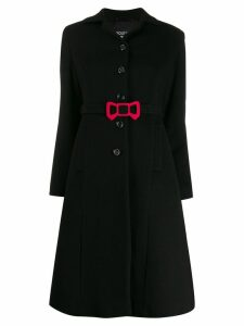 Boutique Moschino bow detail coat - Black
