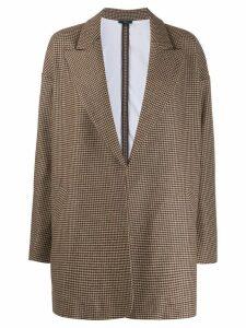 Jejia houndstooth print blazer - NEUTRALS
