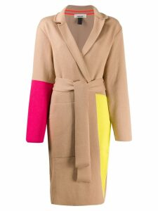 Circus Hotel colour block coat - Neutrals