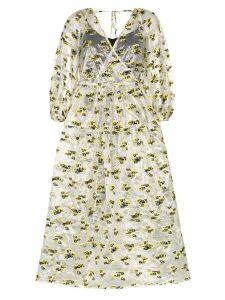 Cecilie Bahnsen sheer midi wrap dress - White