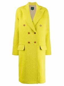 Jejia fitted double-breasted coat - Yellow