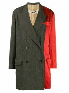 Uma Wang two-tone coat - Brown