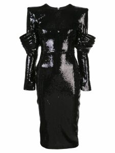 Alex Perry sequin midi dress - Black