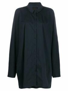 Rundholz Black Label long sleeved shirt dress - Blue