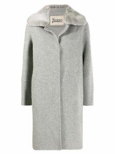 Herno single breasted midi coat - Grey