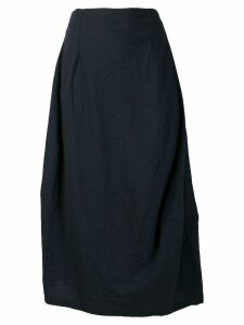 Rundholz Black Label pleated asymmetric skirt - Blue