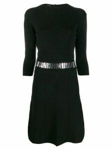 Pinko belted waist dress - Black