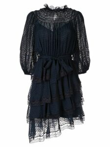 Zimmermann Sabotage tiered lace mini dress - Blue