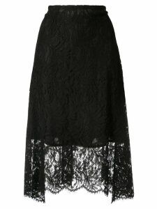 Goen.J high-waisted lace skirt - Black