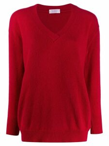Zanone v-neck plain jumper - Red