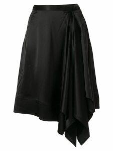 CK Calvin Klein symmetric crepe skirt - Black