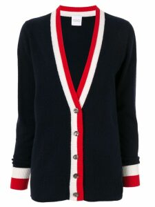 Madeleine Thompson cashmere striped trim cardigan - Blue