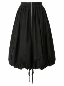 Goen.J zip-embellished balloon taffeta skirt - Black