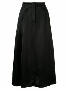 Giorgio Armani satin midi skirt - Black