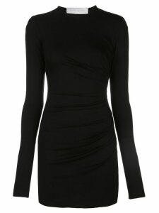 Marina Moscone long-sleeve fitted mini dress - Black