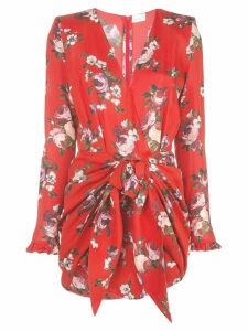 Magda Butrym floral fitted wrap dress - Red