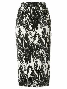 Goen.J floral print skirt - Black
