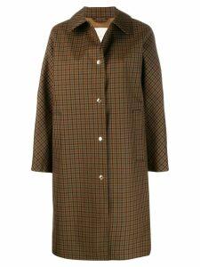 Mackintosh FAIRLIE Brown Check Bonded Wool & Mohair Coat LR-079