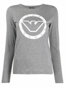 Emporio Armani logo long sleeve T-shirt - Grey