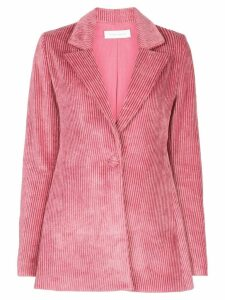 Marina Moscone single-breasted corduroy blazer - Pink