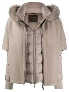 Moorer layered padded coat - Neutrals