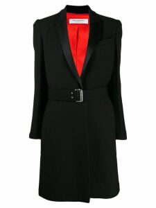 Philosophy Di Lorenzo Serafini belted contrasting-lapel coat - Black
