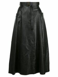 Nili Lotan A-line midi skirt - Black