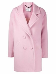 be blumarine double-breasted coat - PINK