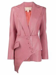 Matériel asymmetric corset blazer - Pink