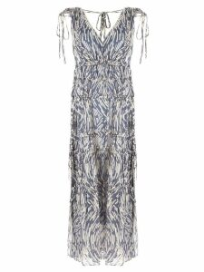 Lee Mathews Zola sleeveless v-neck dress - Blue