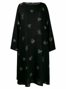 Apuntob patterned relaxed fit dress - Black