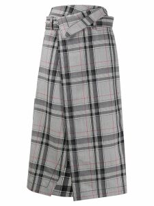 3.1 Phillip Lim checked wrap midi skirt - Grey
