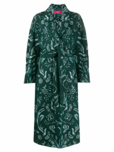 F.R.S For Restless Sleepers belted floral print coat - Green