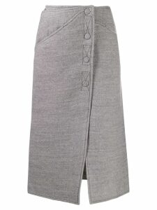 Courrèges felted midi skirt - Grey