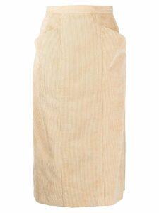 Maryam Nassir Zadeh corduroy high-rise pencil skirt - Brown