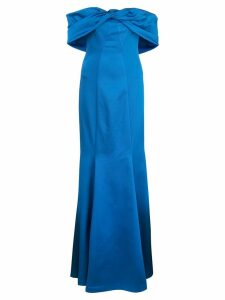 Zac Zac Posen off-the-shoulder mermaid gown - Blue