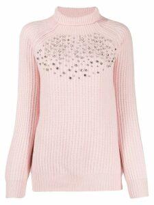 be blumarine crystal decorated jumper - Pink