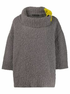 Fabiana Filippi contrast oversized sweater - Grey