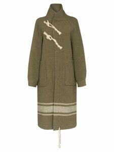 Hyke high neck duffle coat - Green